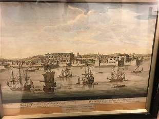 A group of 17 framed 18th century printed Continental
