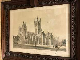 Canterbury Cathedral two lithograph views