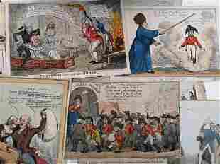 A collection of satirical cartoons.