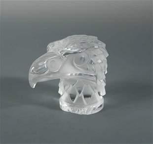 Tête D'Aigle, a modern Lalique glass mascot,