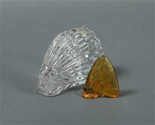 A modern Lalique glass model of a butterfly,