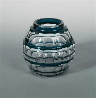 Joseph Simon for Val St Lambert, a rare Art Deco glass