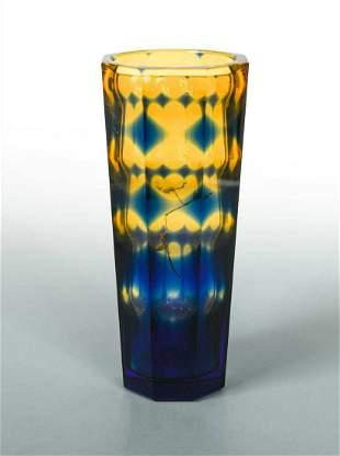 Oldrich Lipsky for Exbor, a Bohemian glass vase,