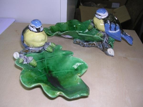 4: TWO MINTON BIRD DISHES