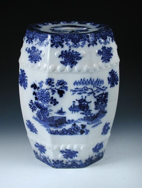 8: A VICTORIAN THOMAS DIMMOCK & CO. BLUE AND WHITE