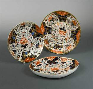 A collection of twenty two Derby and Davenport Imari