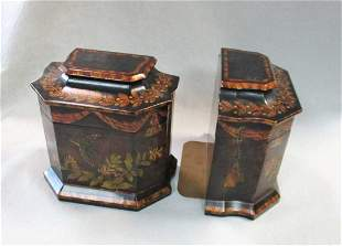 A pair of modern lacquered box bookends