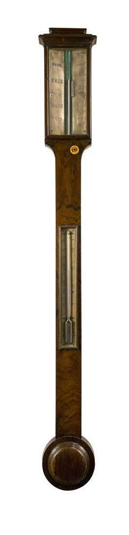A 19th century mahogany stick barometer signed Pung