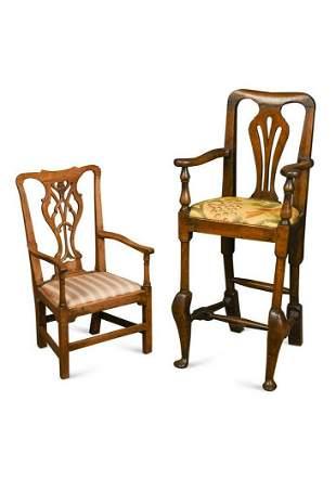 A George III childs mahogany armchair