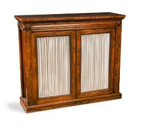 A Regency rosewood side cabinet