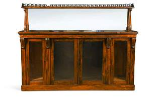 A George IV rosewood bookcase