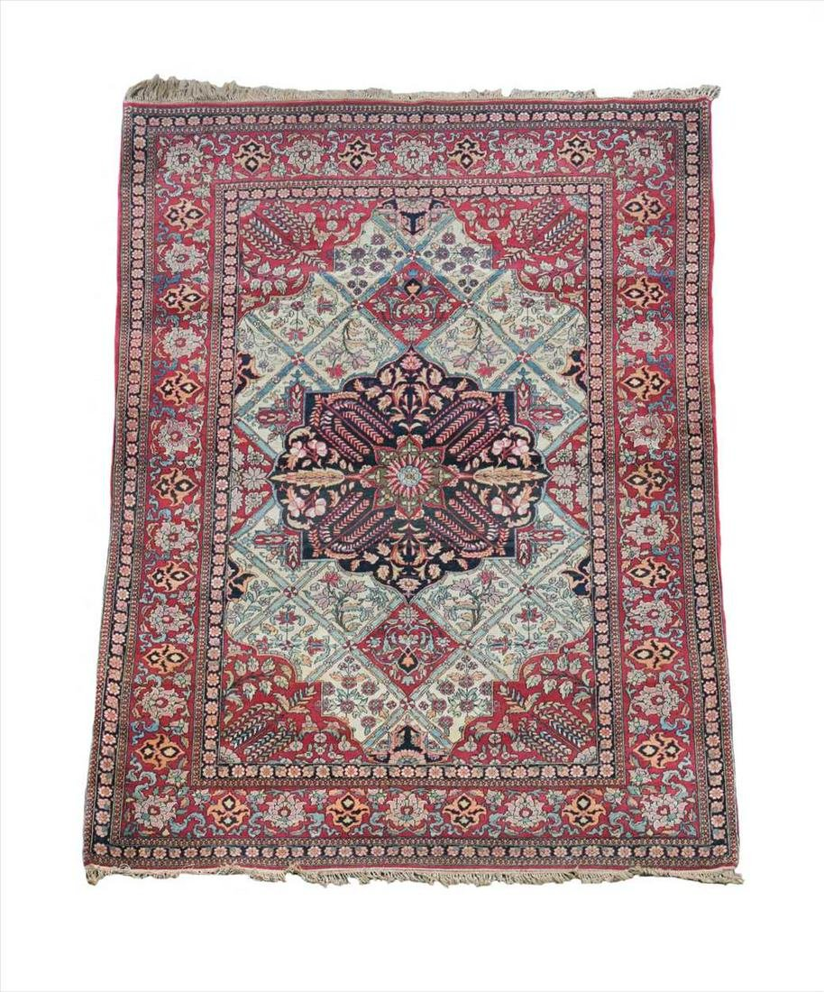 A Persian Kashan type rug,