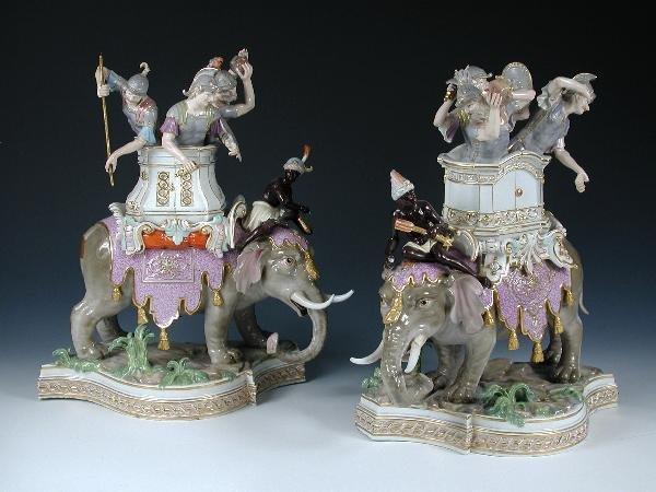 65: TWO MEISSEN ELEPHANT GROUPS