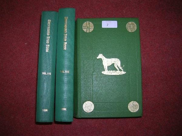 1007: THE GREYHOUND STUD BOOK, GREEN CLOTH BINDINGS (52