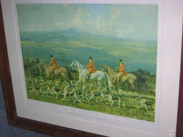1025: AFTER MUNNINGS  THE BRAMHAM MOOR HOUNDS AT WEETON