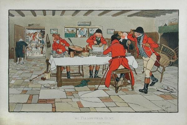 1040: AFTER CECIL ALDIN  THE FALLOWFIELD HUNT SUPPER AN