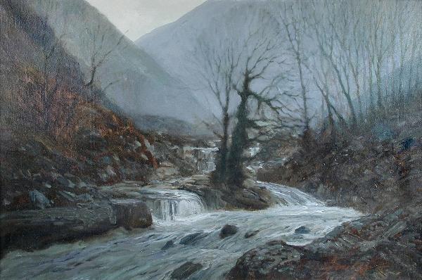 1067: JOHN FOULGER (BRITISH, 20TH CENTURY)  THE RIVER