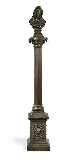 A French bronze commemorative column celebrating the