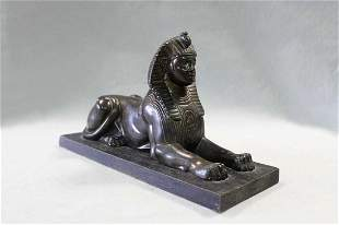 An early 20th century bronze model of the Sphinx,