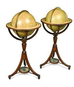A New Twelve Inch Terrestrial Globe by Bardin, London,