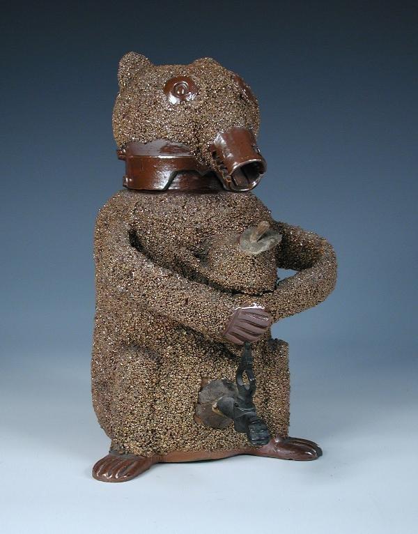 1: A MID 18TH CENTURY NOTTINGHAM STONEWARE BEAR JUG