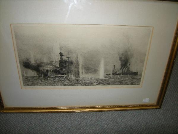 295: W L WYLLIE  SHIPPING  SIGNED ETCHING