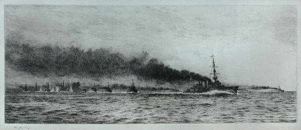 296: W L WYLLIE  SHIPPING  SIGNED ETCHING