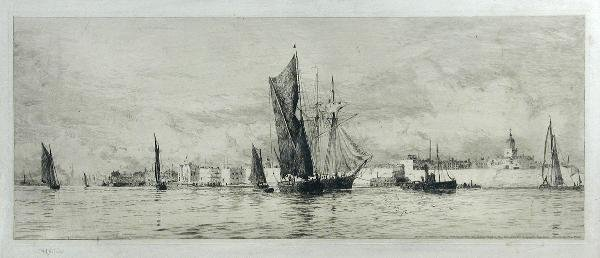 297: W L WYLLIE  SHIPPING  SIGNED ETCHING