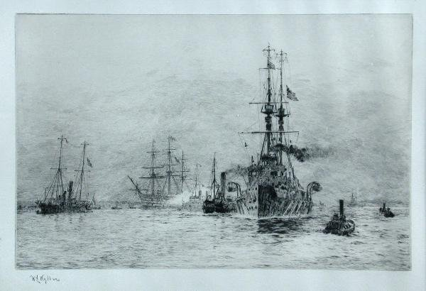 299: W L WYLLIE  SHIPPING  SIGNED ETCHING