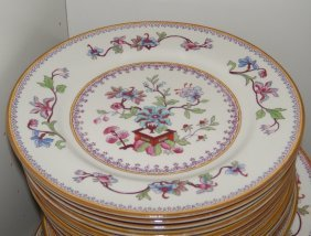 A Royal Worcester 'Vitreous' Dinner Service, Date Codes