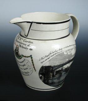 A 'Phillips & Co Sunderland Pottery' cream ware jug