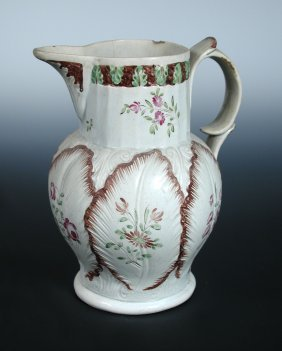 A late 18th century pearl ware jug