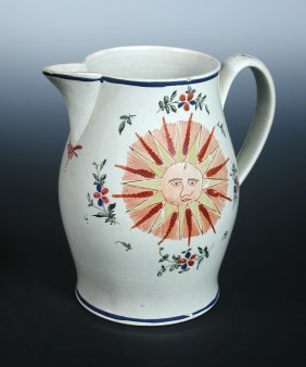 A late 18th/early 19th century cream ware jug, possibly