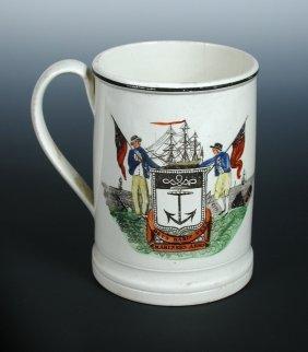 An early 19th century creamware mug, possibly Dixon Aus