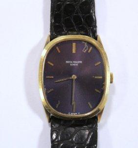 An 18ct gold cased gentleman's wrist watch