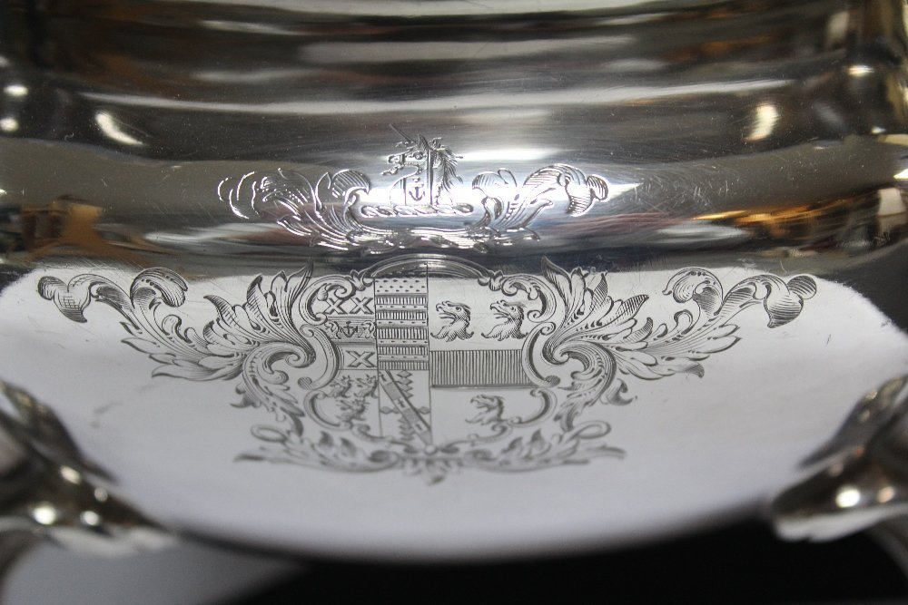 A large early Victorian silver soup tureen, - 2