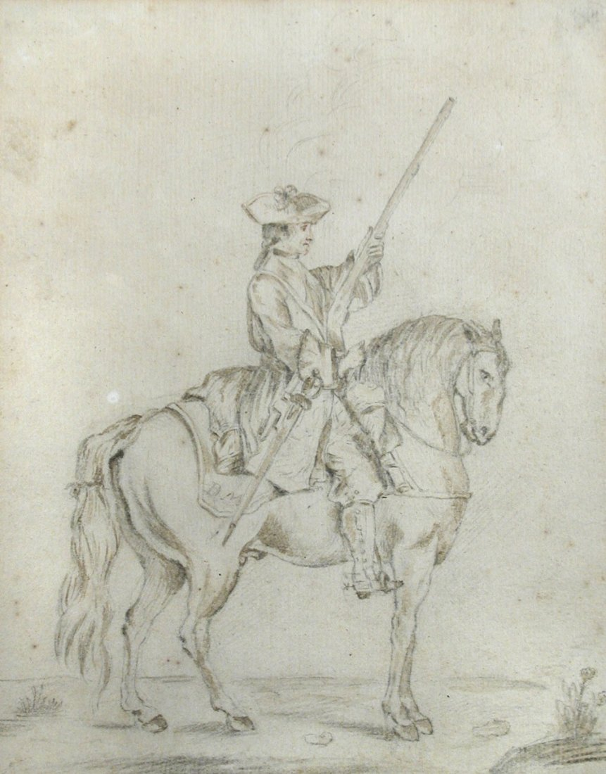 Dirk Maes (Dutch, 1656-1715)   - A soldier on horseback