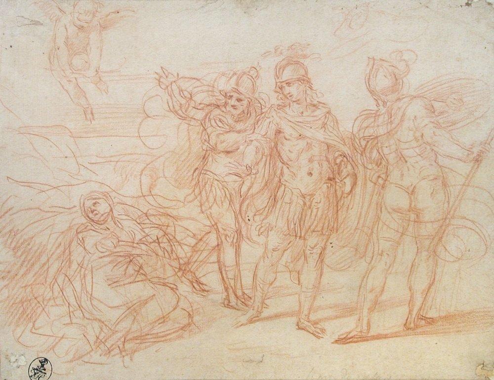 Simone Cantarini (Italian, 1612-1648)   - Scene from Ar