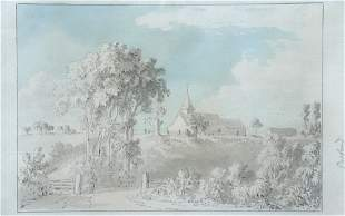 Anthony Devis - View of St Nicholas Church, Pyrford, Su