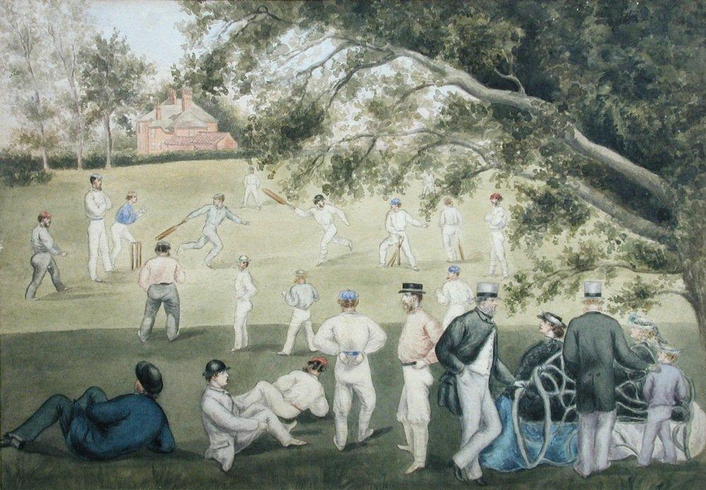 English School (20th Century) - An Edwardian Cricket Sc