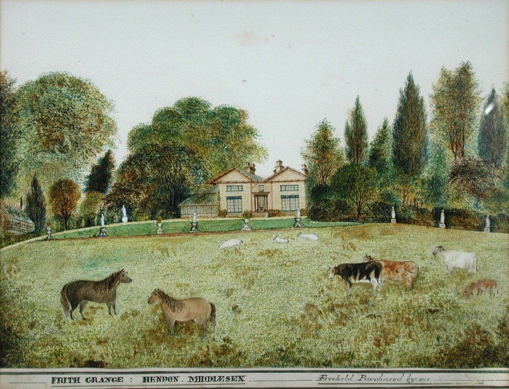 English School (19th Century) - A View of Frith Grange,