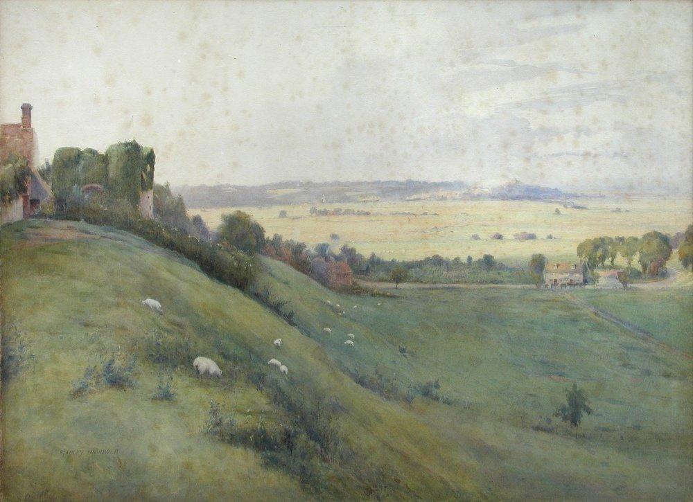 Stanley Inchbold (British, 1855-1921) -  Winchelsea Mar