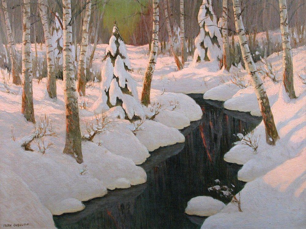 § Ivan Chehoff (Russian, 20th Century) - Winter Snow -