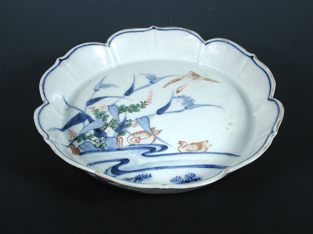 A famille verte dish, possibly Tianqi,