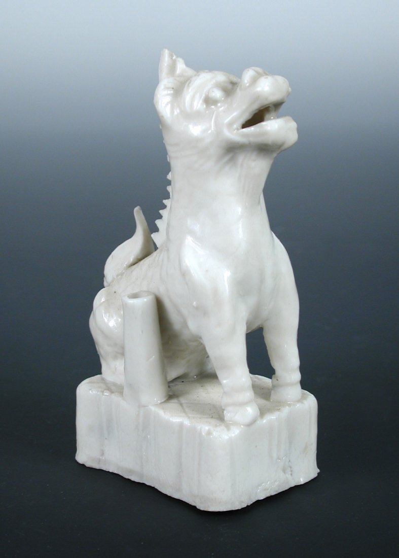 A late 18th/early 19th century blanc de Chine qilin