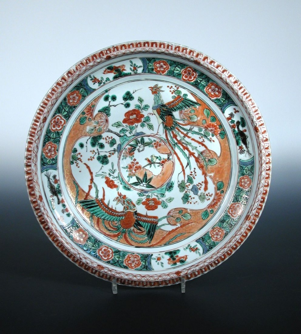 An early 18th century famille verte dish,