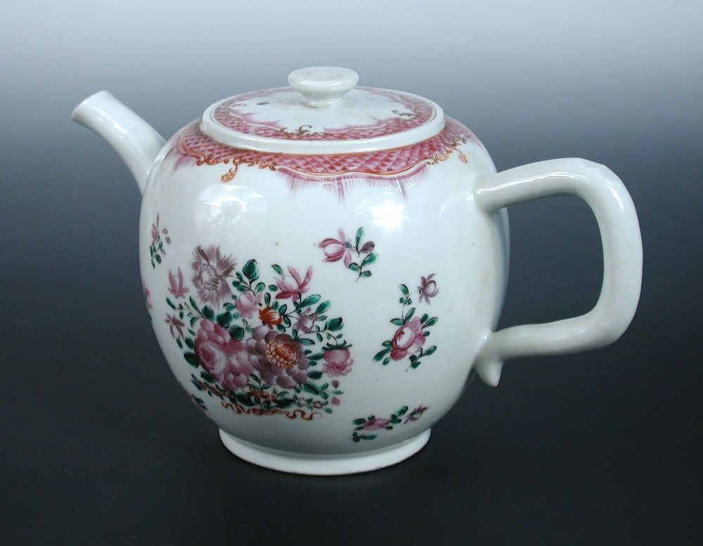 A late 18th century export teapot and cover,