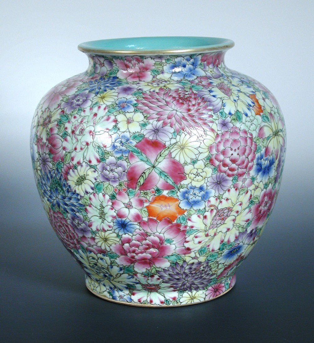 A late 19th/early 20th century millefiore vase,