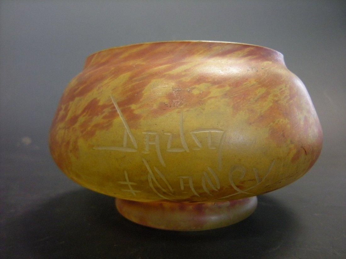 A Daum glass bowl,