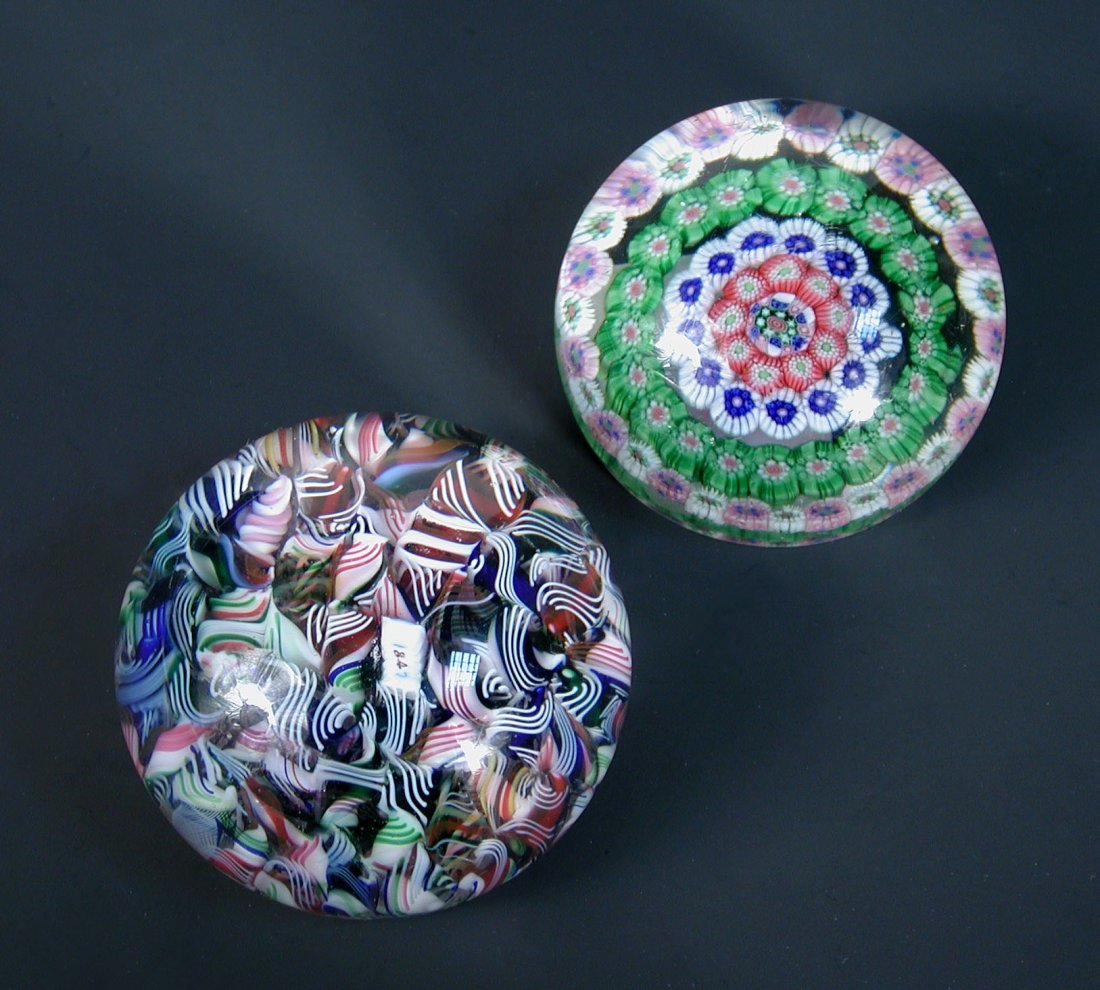 A French scramble paperweight, possibly Baccarat,